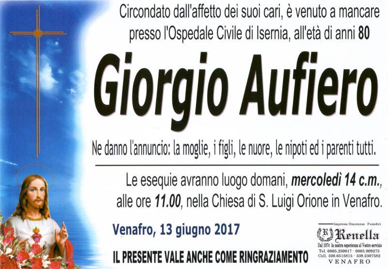 Giorgio Aufiero -13/06/2017- Venafro – Onoranze Funebri Renella