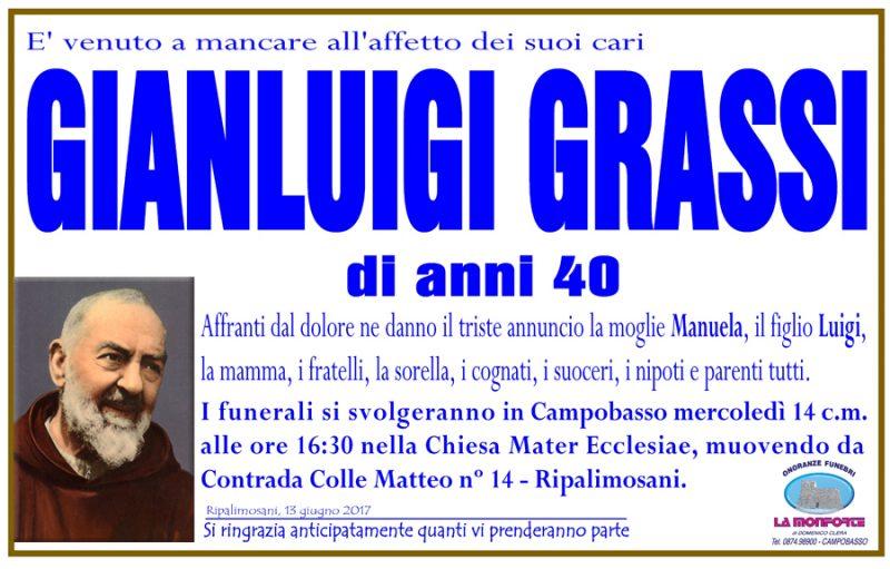 Gianluigi Grassi – 13/06/2017 – Ripalimosani (CB) – Onoranze funebri La Monforte