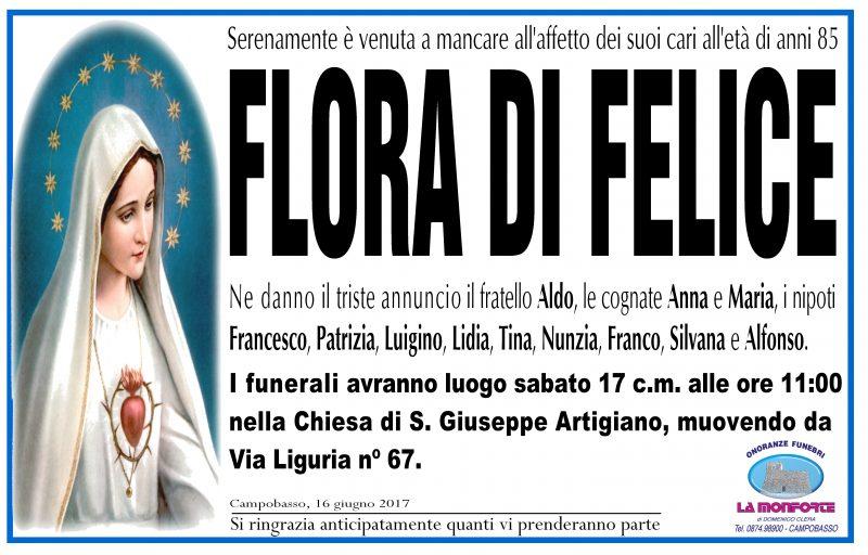 Flora di Felice – 16/06/2017 – Campobasso – Onoranze Funebri La Monforte