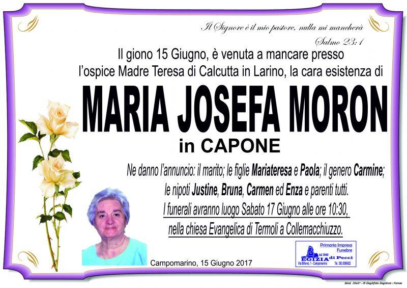 Maria Josefa Moron – 16/06/2017 – Campomarino – Primaria Impresa Funebre Egizia