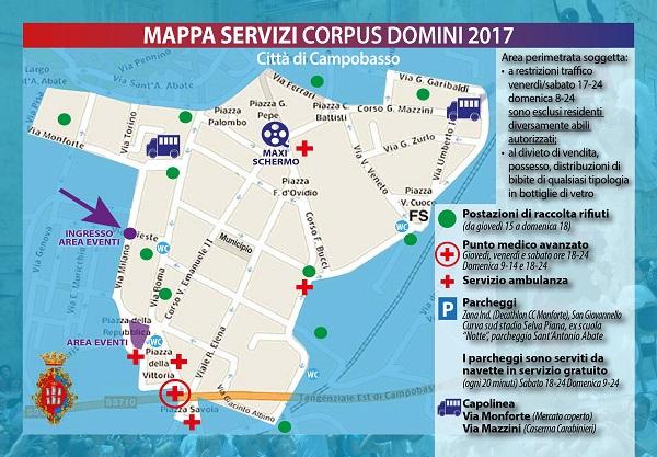 Corpus Domini, la mappa dei servizi: come muoversi durante la festa