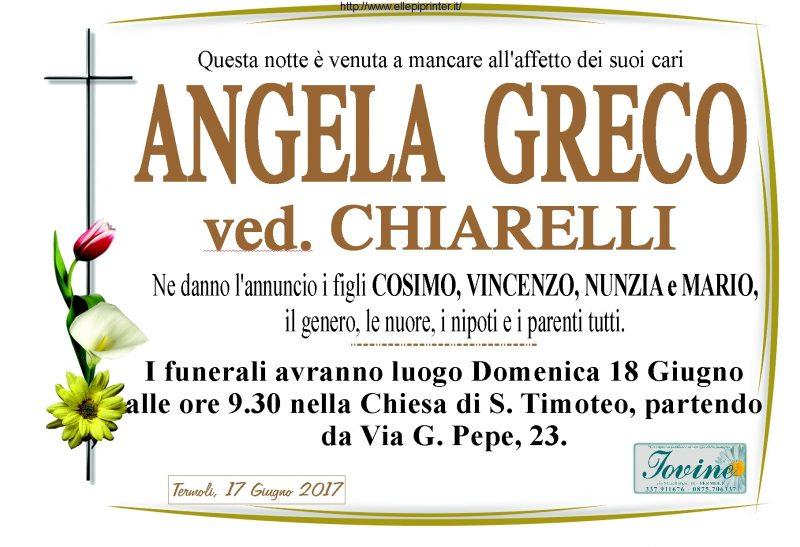 Angela Greco – Termoli, 17/06/17 – Onoranze Funebri Iovine
