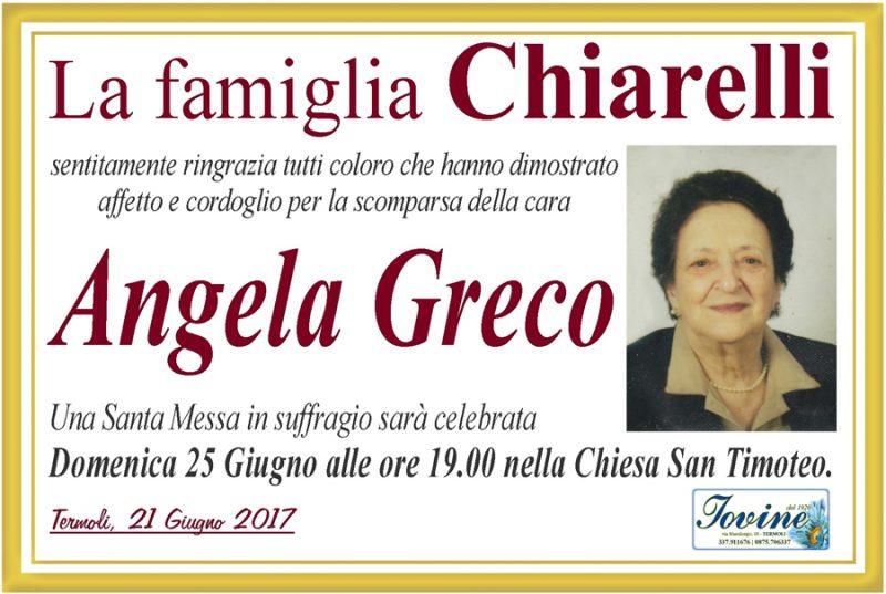 Ringraziamento Famiglia Chiarelli – Termoli