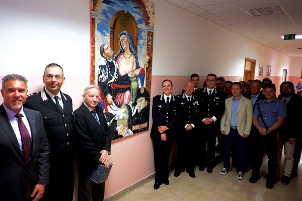 Encomi ai Carabinieri, donata anche una 'Virgo Fidelis' del pittore Ciccone