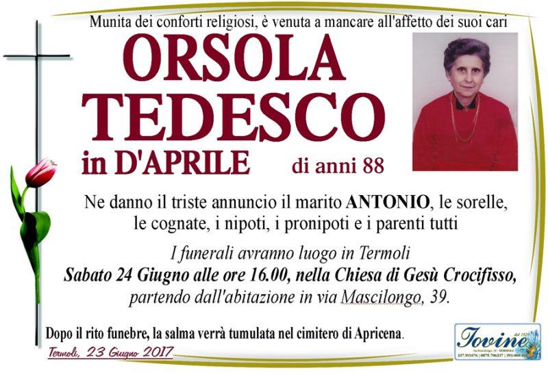 Orsola Tedesco in D'Aprile – 23/06/2017 – Termoli – Onoranze funebri Iovine