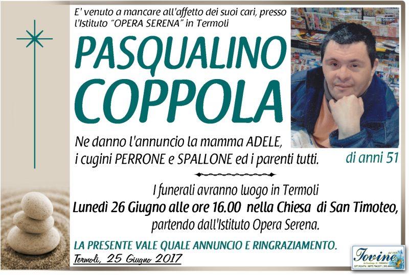 Pasqualino Coppola, Termoli, 25/06/2017 – Onoranze Funebri Iovine