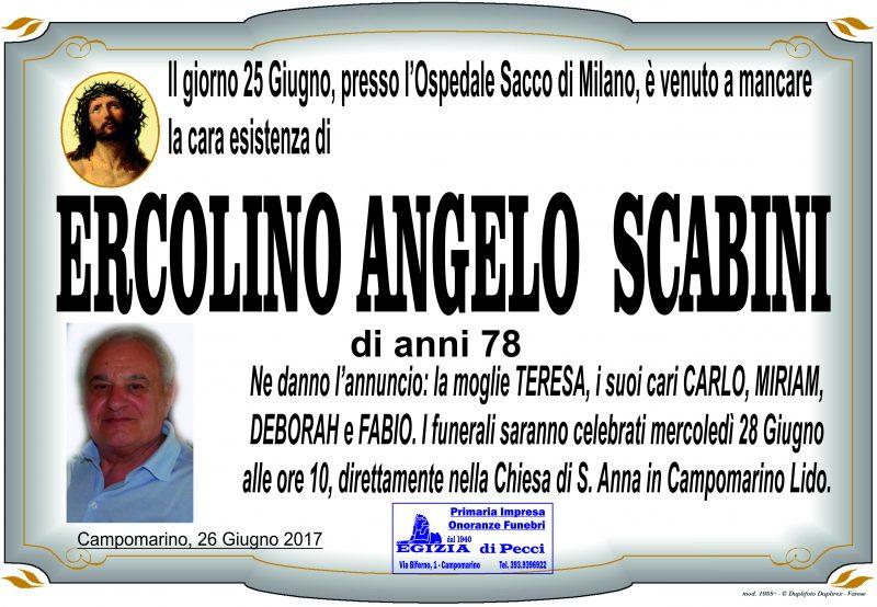 Ercolino Angelo Scabini, Campomarino, 25/06/2017 – Onoranze Funebri Egizia