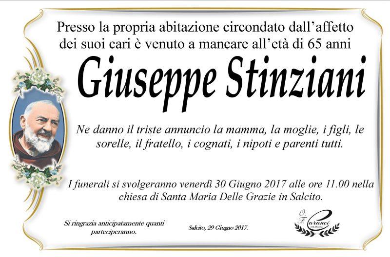 Giuseppe Stinziani – 29/06/2017 – Salcito – Onoranze Funebri Caranci