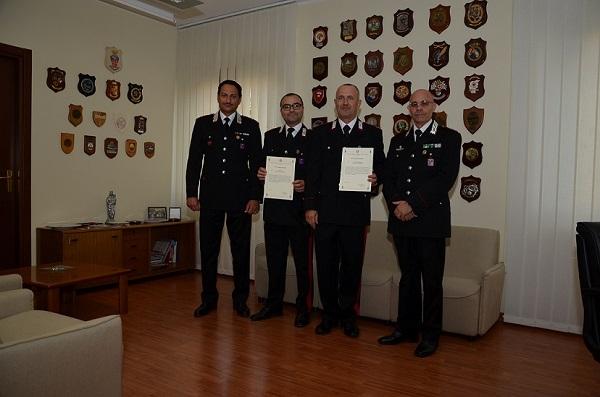 Sventarono omicidio, premiati due Carabinieri