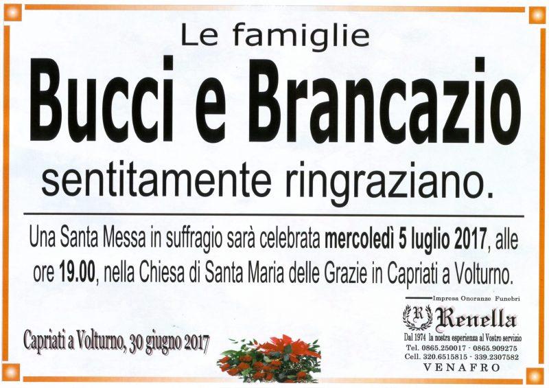 Ringraziamento famiglie Bucci e Brancazio – Capriati a Volturno