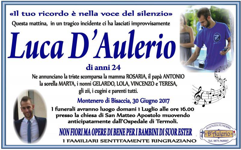 Luca D'Aulerio, Montenero di Bisaccia, 30/06/2017 – Agenzia Funebre D'Aulerio