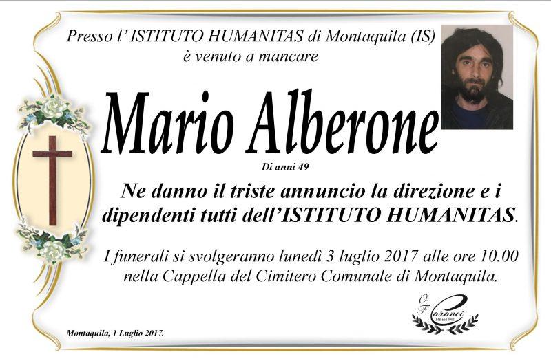 Mario Alberone, Montaquila, 1/07/2017 – Onoranze Funebri Caranci