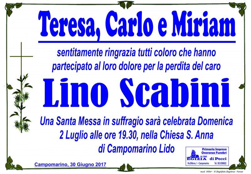 Ringraziamento Famiglia Scabini – Campomarino