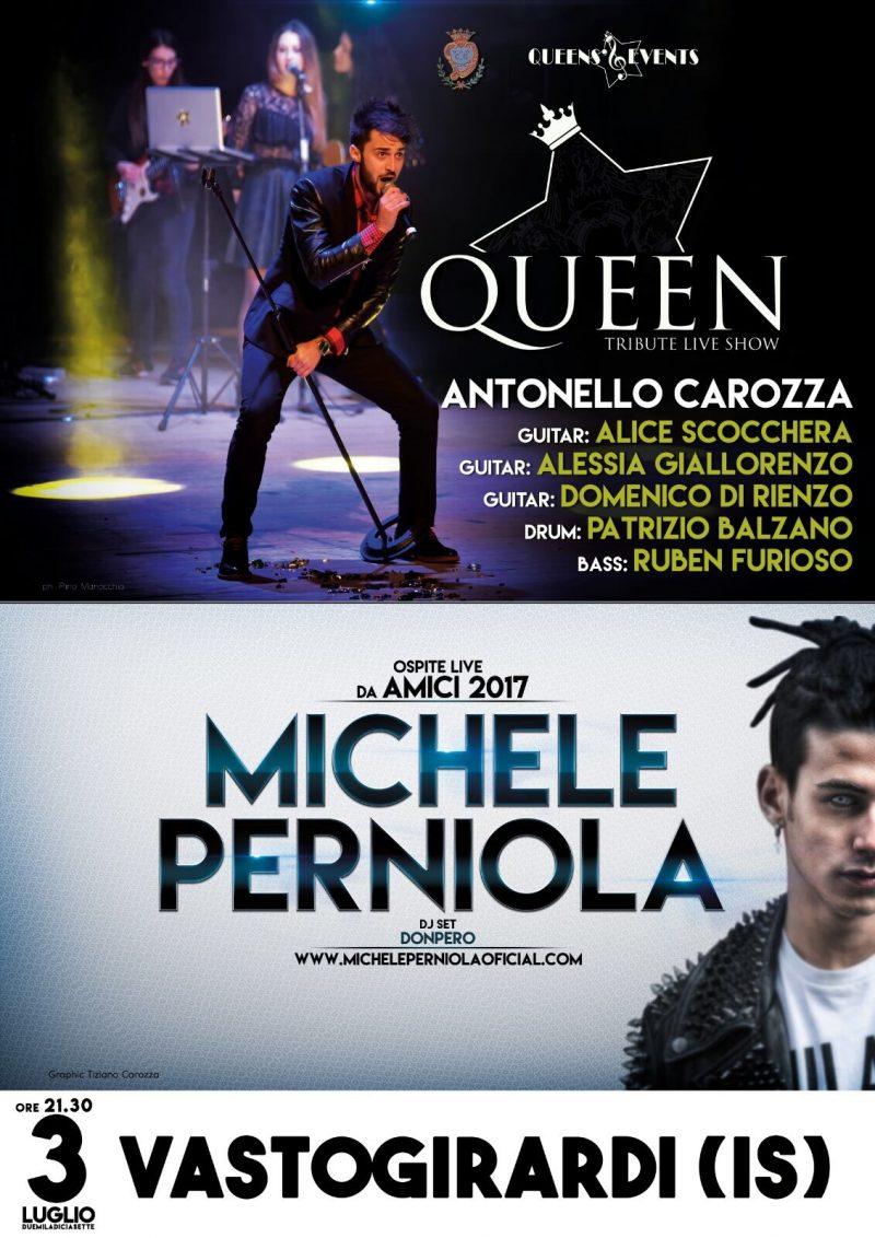 Volo dell'Angelo, questa sera a Vastogirardi Queen Tribute Live Show con Antonello Carozza e Michele Perniola