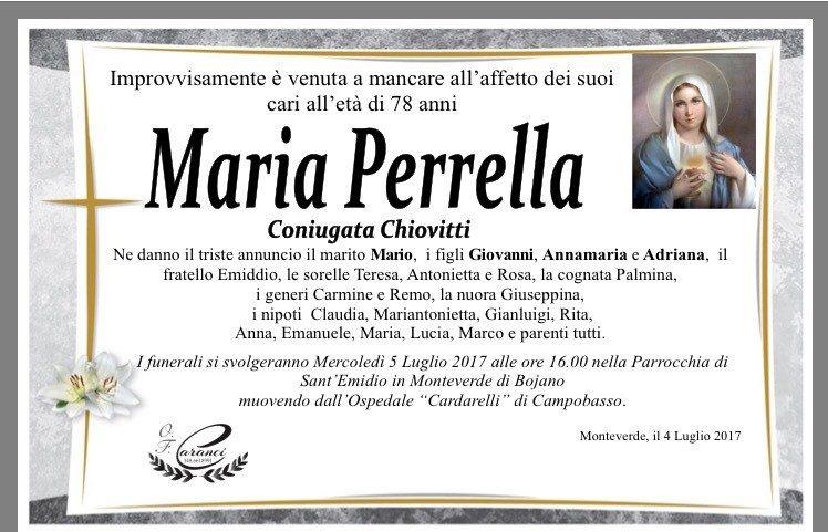 Maria Perrella – 04/07/2017 – Monteverde – Onoranze Funebri Caranci