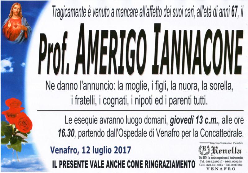 Amerigo Iannacone – 12/07/2017 – Venafro – Onoranze funebri Renella
