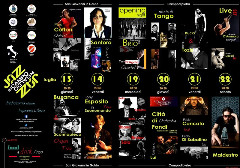 EVENTI – Parte il grande jazz, stasera appuntamento a San Giovanni in Galdo