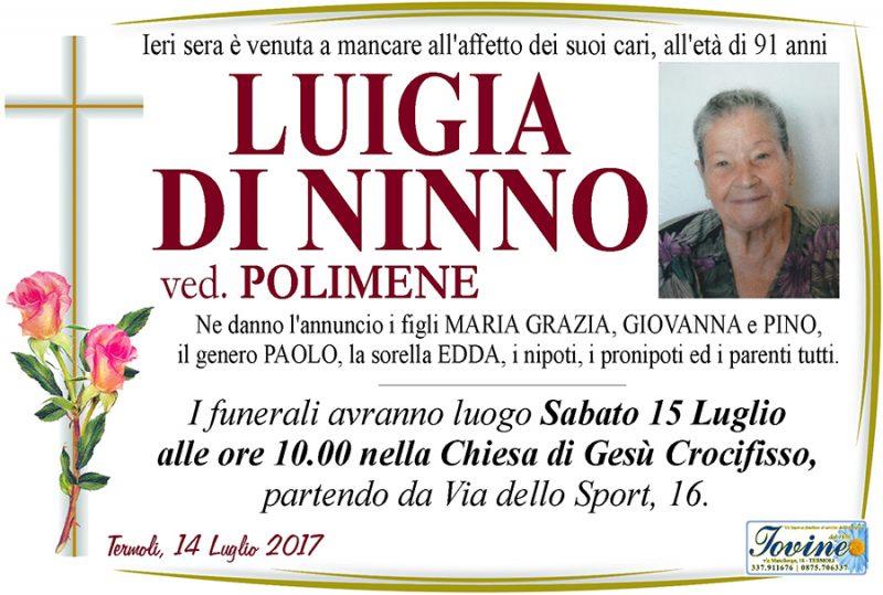 Luigia Di Ninno – 14/07/2017 – Termoli – Onoranze funebri Iovine