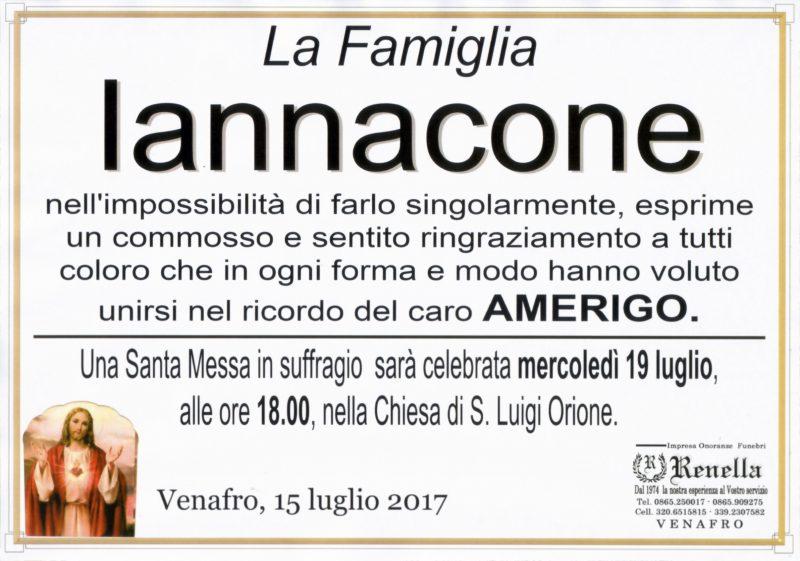 Ringraziamento famiglia Iannacone – Venafro