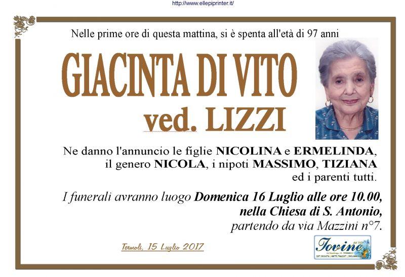 Giacinta Di Vito, 15/07/2017, Termoli – Onoranze Funebri Iovine