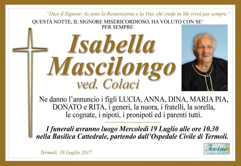 Isabella Mascilongo – 18/07/2017 – Termoli – Onoranze Funebri Jovine