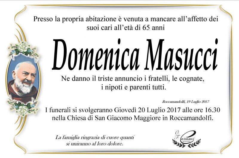 Domenica Masucci, 19/07/2017, Roccamandolfi – Onoranze Funebri Caranci