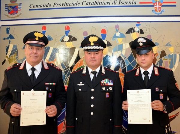 Arrestarono coppia di truffatori di anziani, premiati i Carabinieri
