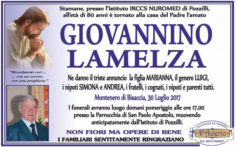 Giovannino Lamelza, 30/07/2017, Montenero di Bisaccia – Agenzia Funebre D'Aulerio