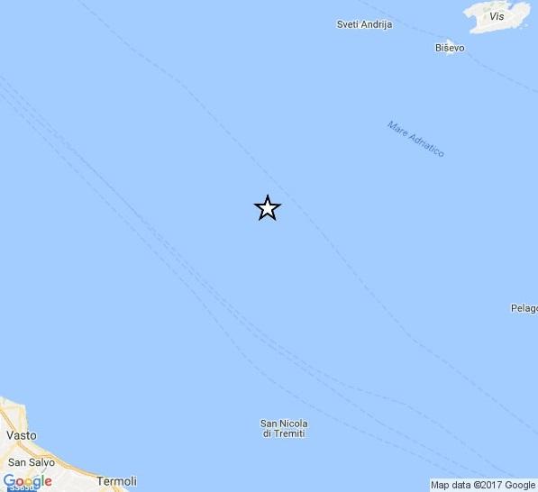 Tremiti, terremoto in mare: paura ma nessun danno