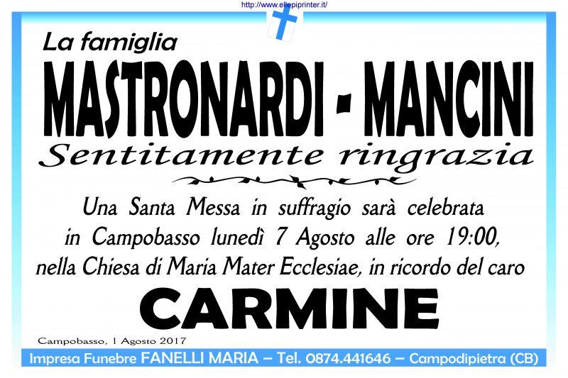Ringraziamento famiglie Mastronardi e Mancini – Campobasso