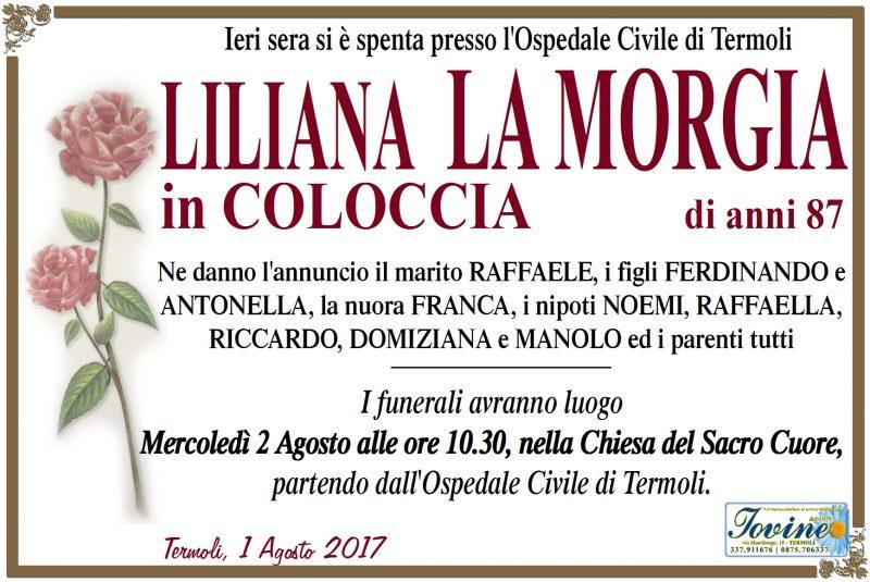 Liliana La Morgia – 01/08/2017 – Termoli – Onoranze Funebri Jovine