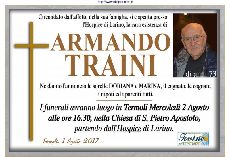Armando Traini – 01/08/2017 – Termoli – Onoranze funebri Iovine