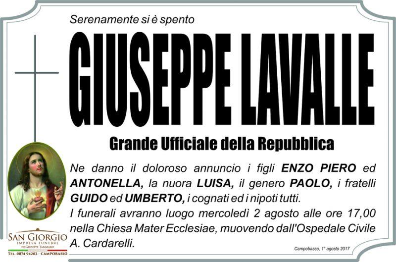 Giuseppe Lavalle – 01/08/2017 – Campobasso – Impresa funebre San Giorgio