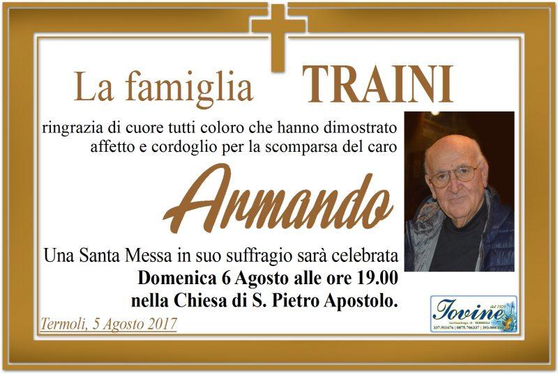 Ringraziamento famiglia Traini, Termoli