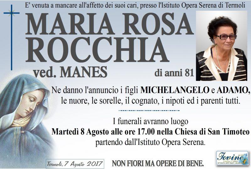 Maria Rosa Rocchia, 7/08/2017, Termoli – Onoranze Funebri Iovine