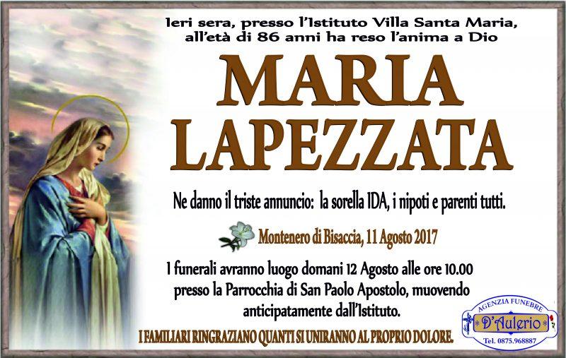 Maria Lapezzata- 11/08/2017- Montenero di Bisaccia – D'Aulerio