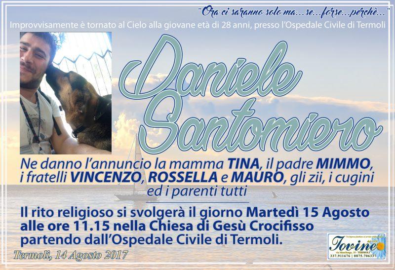 Daniele Santomiero – 14/08/2017 – Termoli – Onoranze Funebri Jovine