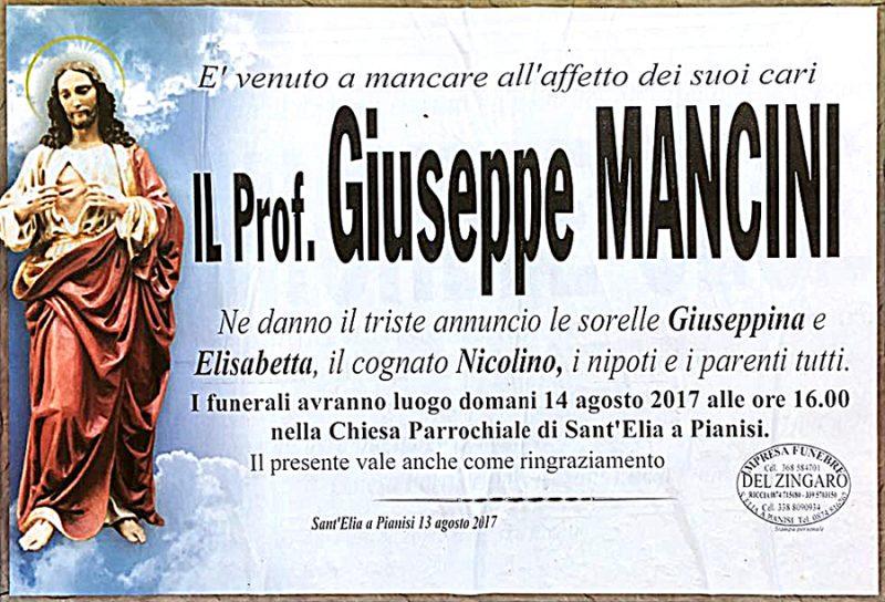 Giuseppe Mancini – 13/08/2017 – Sant'Elia a Pienisi (CB) – Impresa funebre Del Zingaro