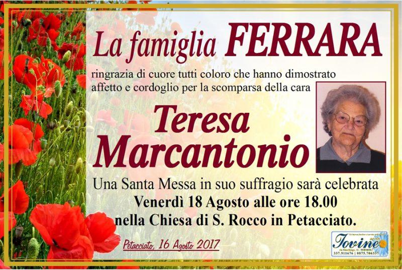 Ringraziamento famiglia Ferrara – Petacciato