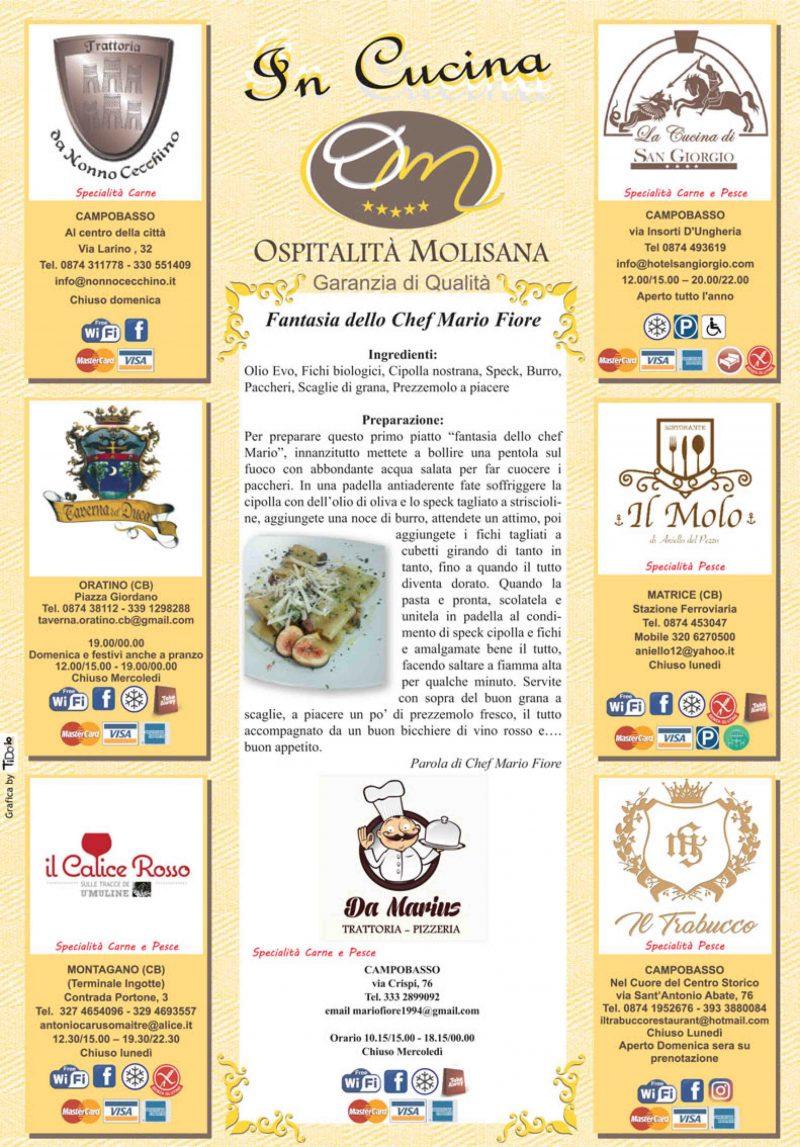 OSPITALITA' MOLISANA – Fantasia dello Chef Mario Fiore
