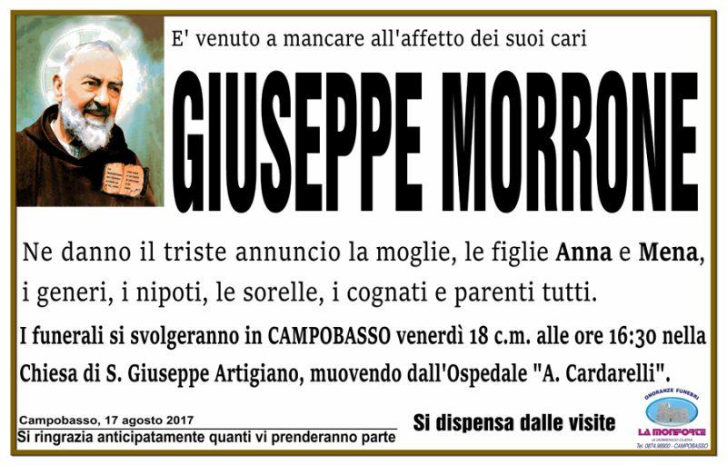 Giuseppe Morrone – 17/08/2017 – Campobasso – Onoranze funebri La Monforte