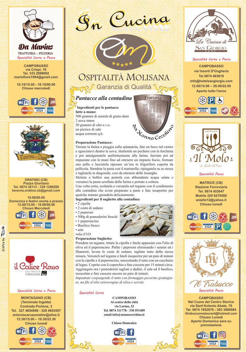 OSPITALITA' MOLISANA – Ecco le Pantacce di Nonno Cecchino