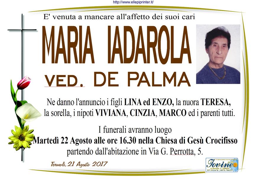 Maria Iadarola – 21/08/2017 – Termoli – Onoranze funebri Iovine