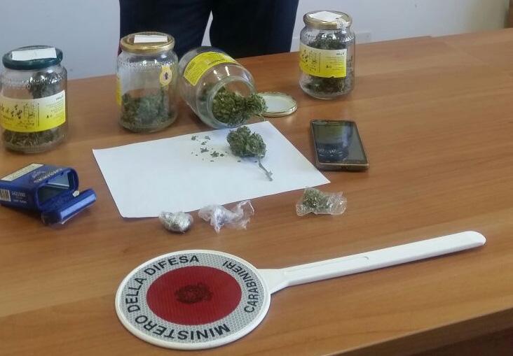 In casa marijuana pronta per lo spaccio, denunciato un 23enne