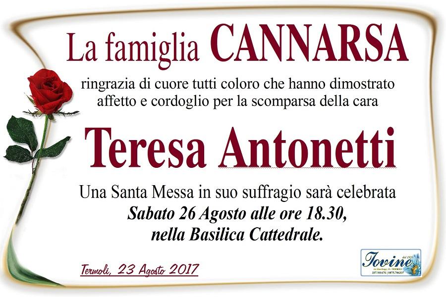 Ringraziamento Famiglia Cannarsa – Termoli