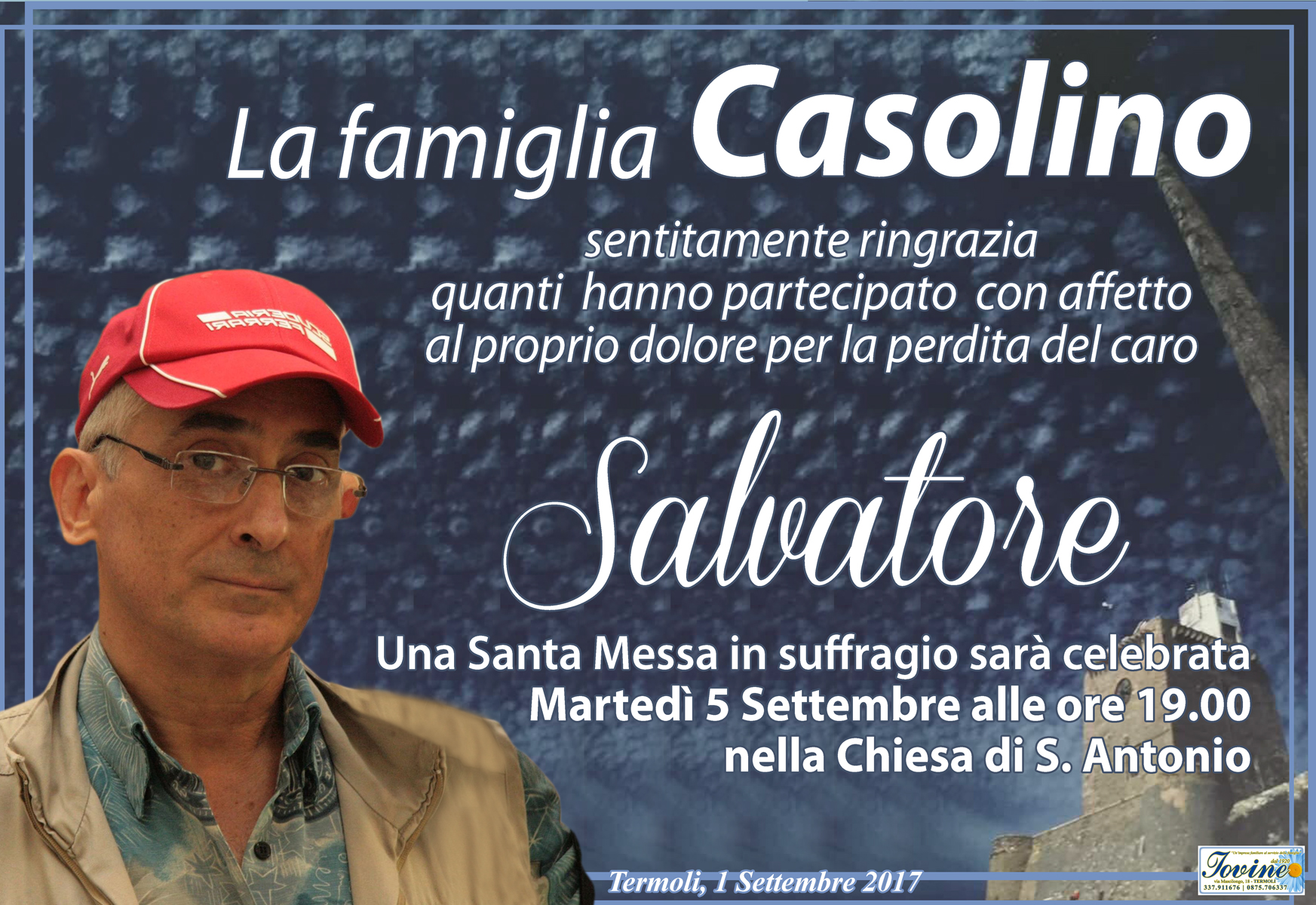 Ringraziamento Famiglia Casolino – Termoli