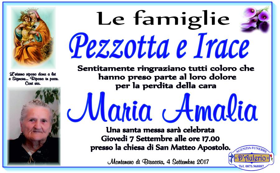 Ringraziamento famiglie Pezzotta e Irace – Montenero di Bisaccia (CB)