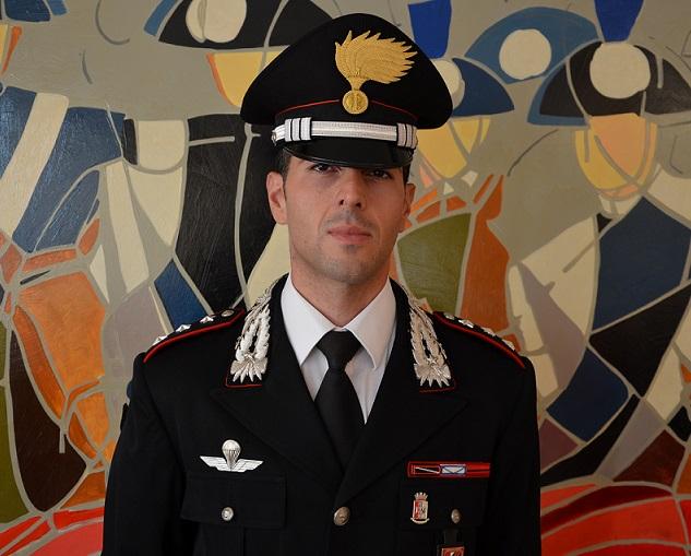 Il Capitano Proietti al comando della Compagnia Carabinieri di Agnone