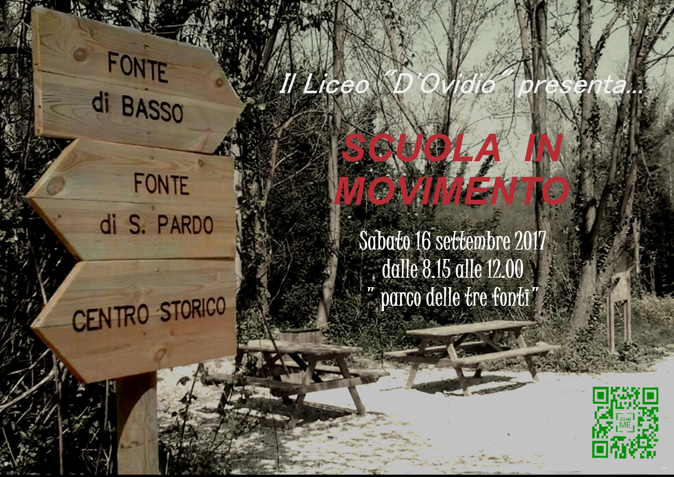 """Studenti e insegnanti a contatto diretto con la natura: al Liceo D'Ovidio di Larino la manifestazione """"Scuola in Movimento"""""""