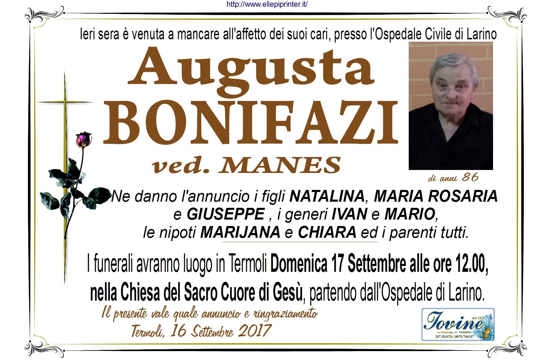 Augusta Bonifazi – 16/09/2017 – Termoli – Onoranze Funebri Jovine